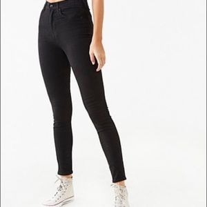 Forever 21 Black high waist Black Denim Pants